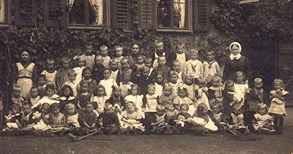 historische Aufnahme der Kindertagesstätte